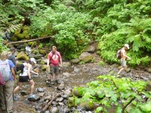 Ballou_cu hikers crossing mtn stream