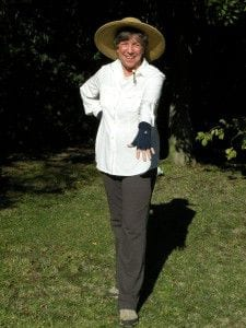 Linda in Sun Protection clothing