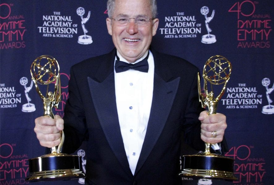 Joseph holding Emmy