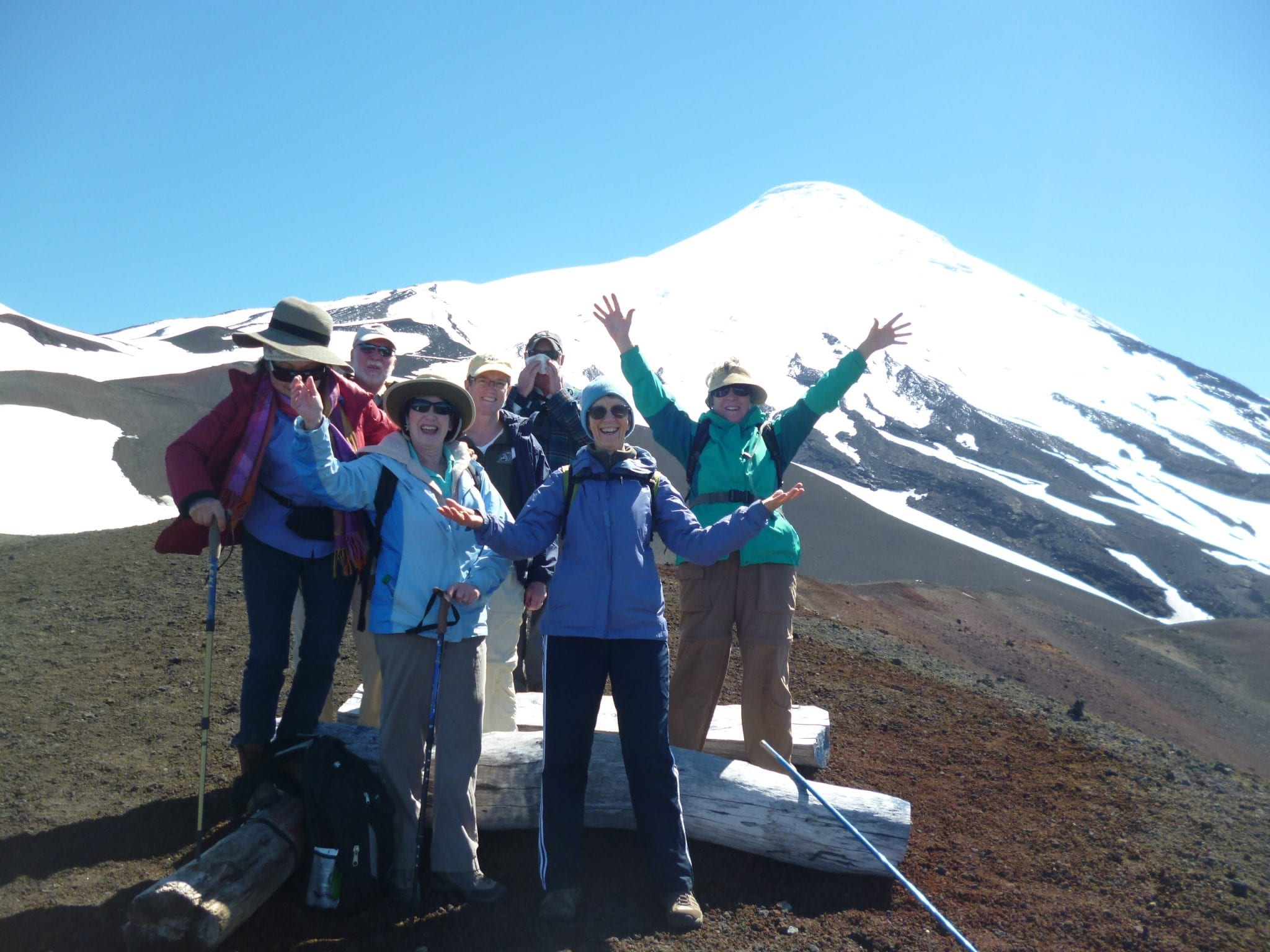 Summiting Orsono with the gang