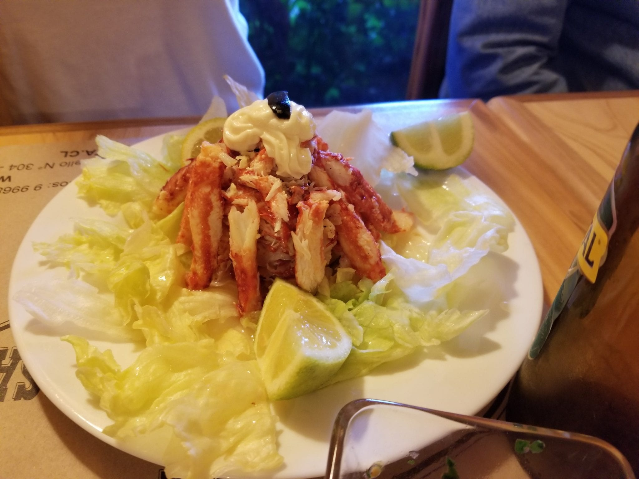 crab salad-the rose garden