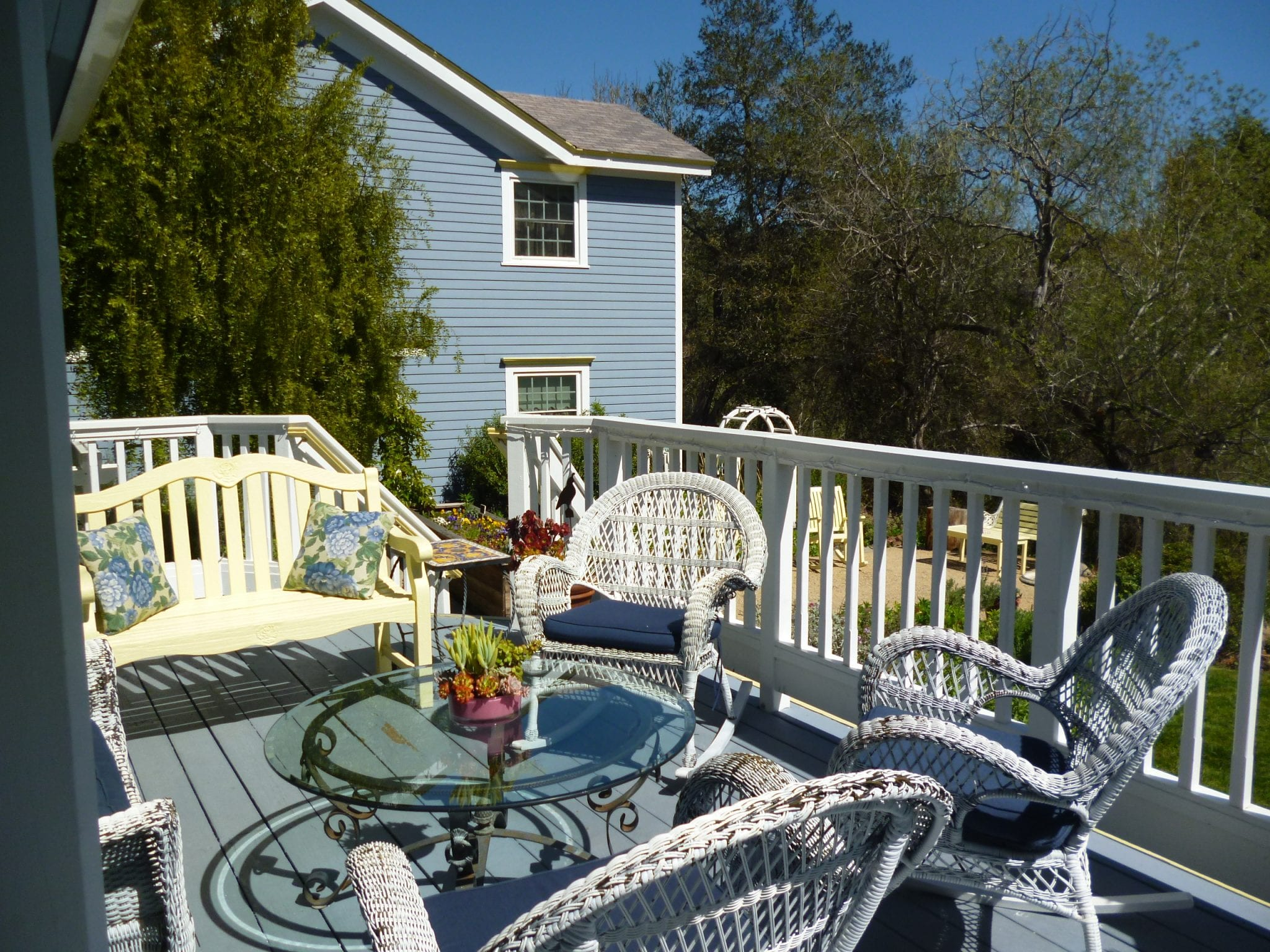 Deck at Olallieberry Inn