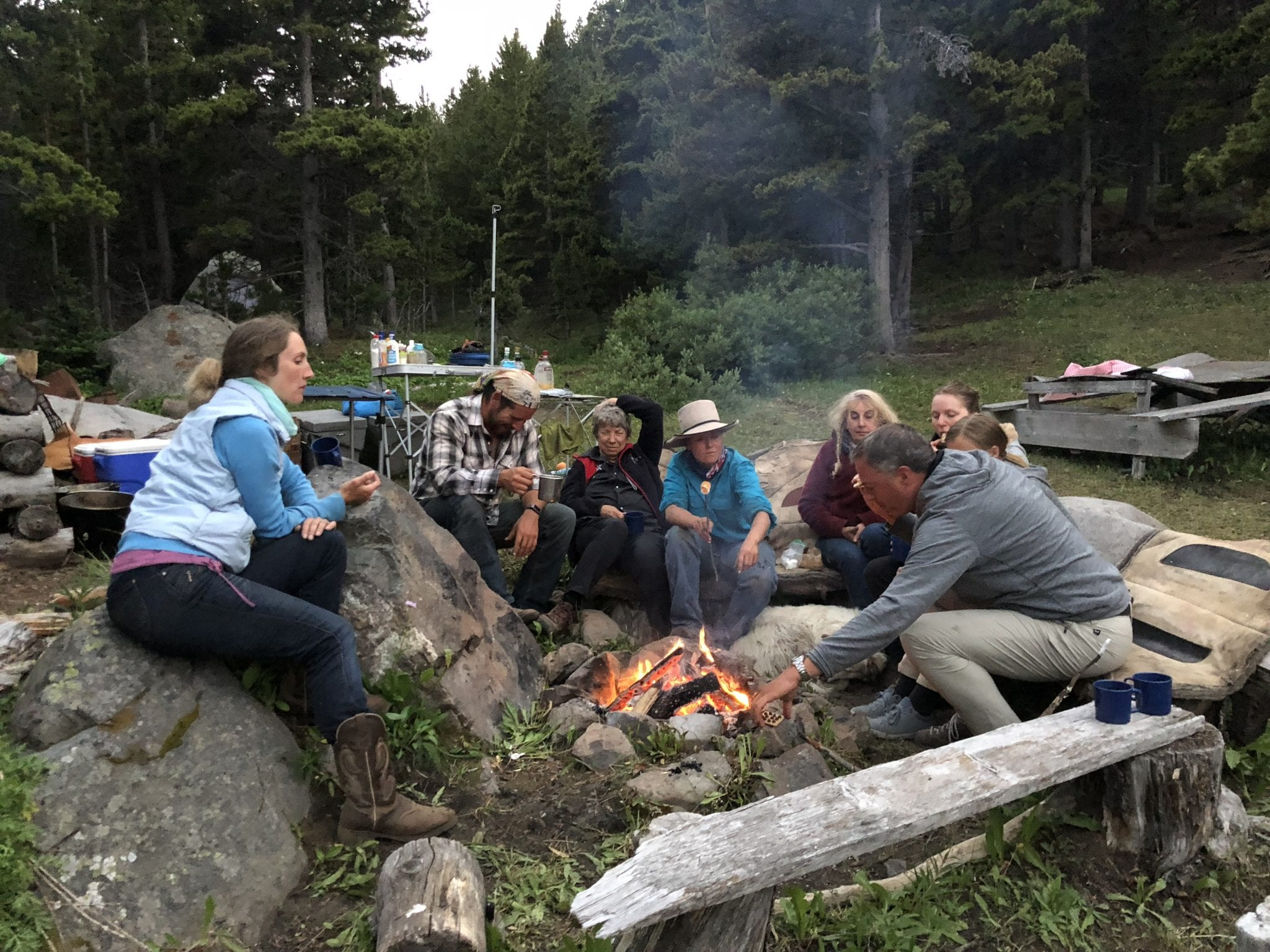 Camp life at end of riding day-Marion Buse