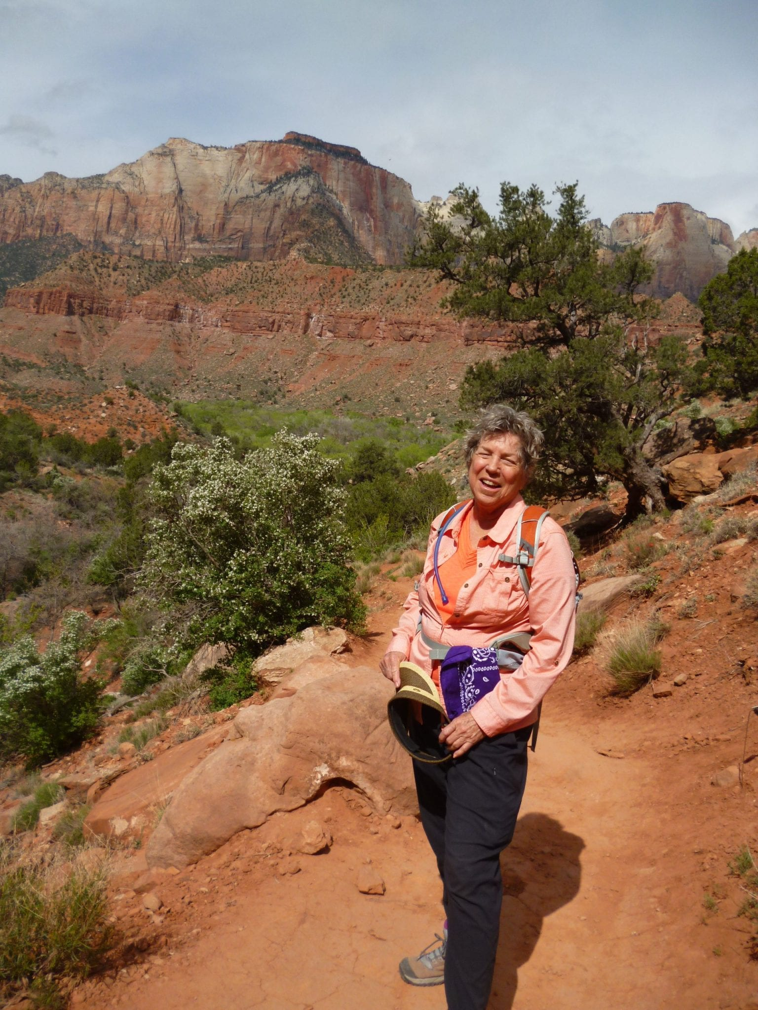 LInda on Watchman Trail