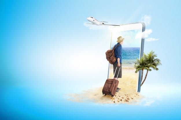 rear-view-asian-man-hat-with-suitcase-bag-backpack-walking-beach_9083-3246