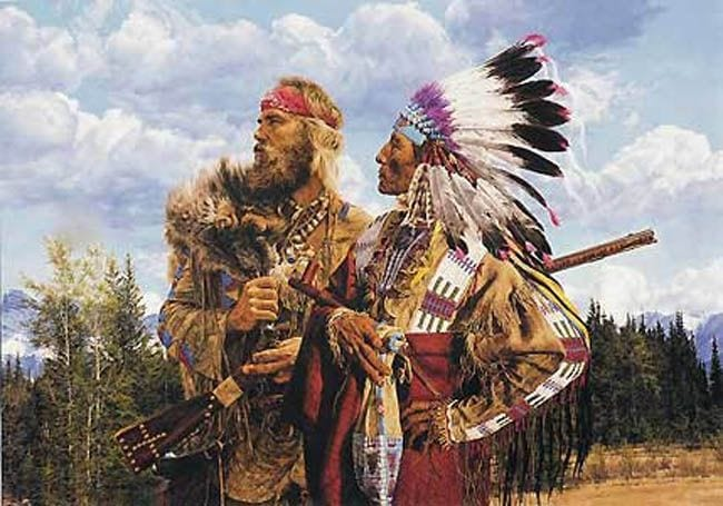 Mountain Jim with Indian