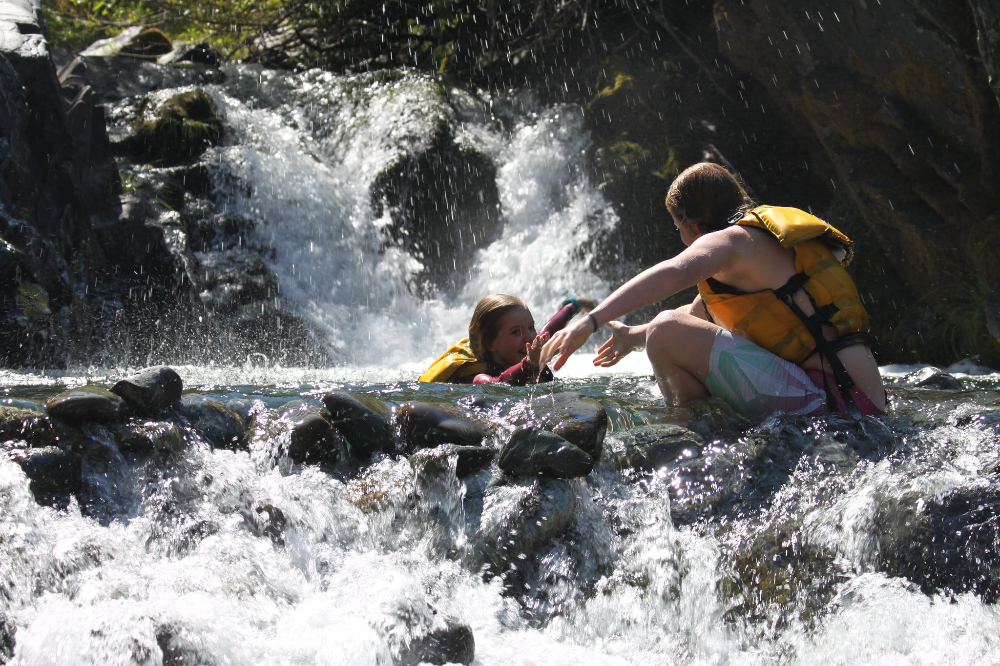 Cooling off in side creek-Momentum